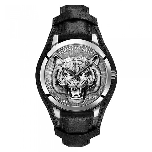 THOMAS SABO Men's Watch TIGER 3D BLACK-SILVER Stainless Steel
