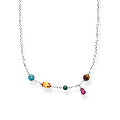 Thomas Sabo Sterling Silver Necklace RIVIERA COLOURS