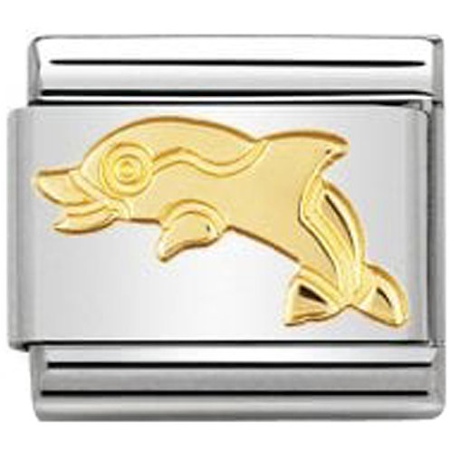Nomination COMPOSABLE CLASSIC LINK GOLD  DOLPHIN CHARM