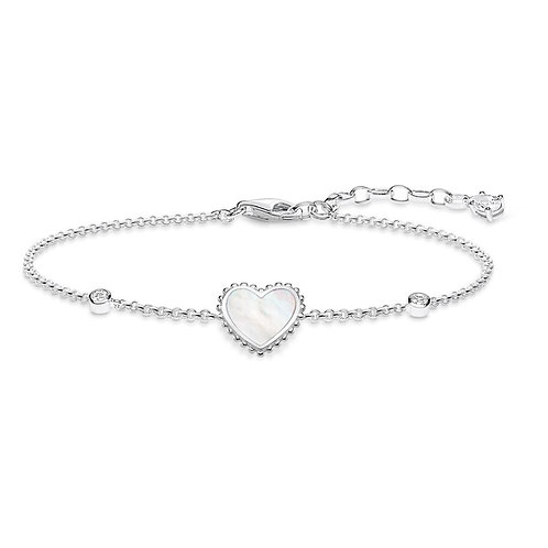 Thomas Sabo Bracelet with mother of Pearl Heart