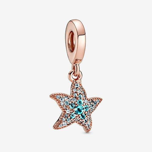 Pandora Kefalonia Special  ROSE SPARKLING STARFISH DANGLE CHARM