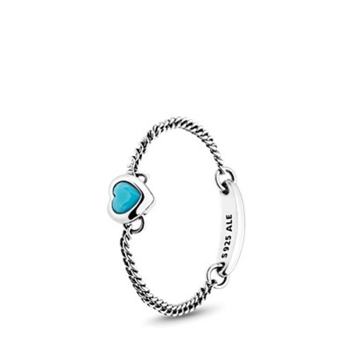 Pandora Blue Spirited Heart Ring