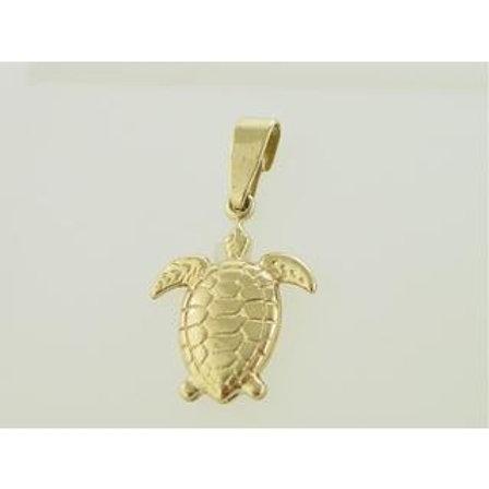 Gold Pendant 14ck Gold  Cephalonia Turtle