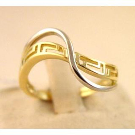 GREEK KEY DESIGN MEANDROS 14ck  YELLOW GOLD Ring