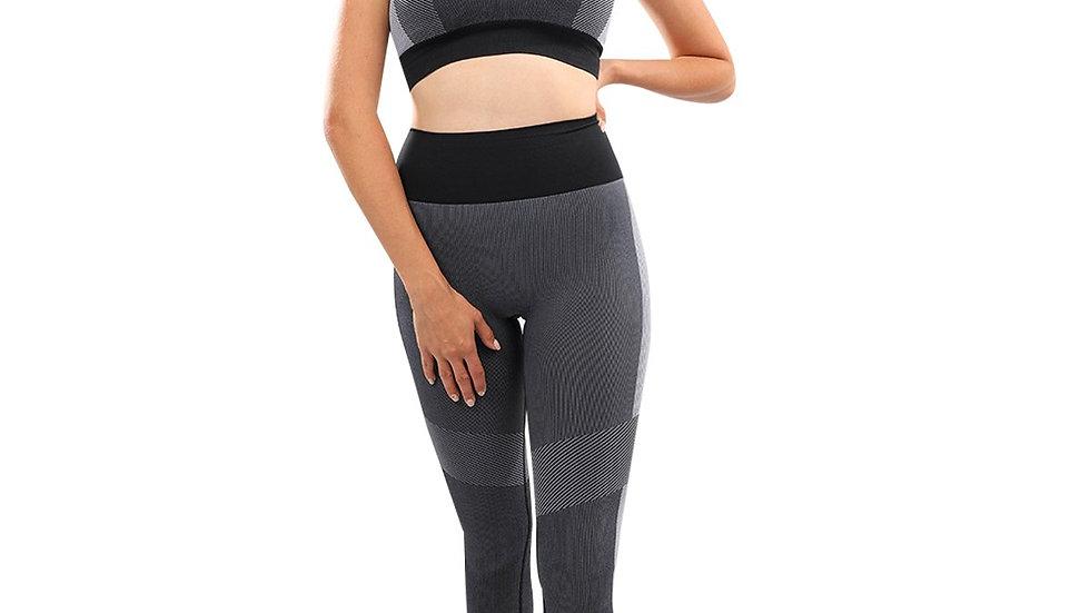 Arleta Seamless Leggings & Sports Bra Set - Black