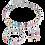 Thumbnail: COEUR de Lion Necklace GeoCUBE® Swarovski® Crystals  rose gold-silver multicolor