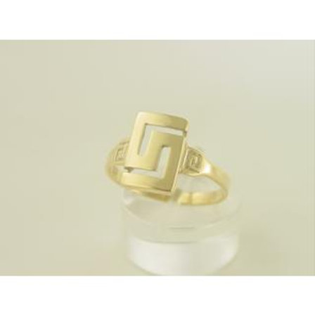 GREEK KEY DESIGN MEANDROS 14ck YELLOW GOLD Ring
