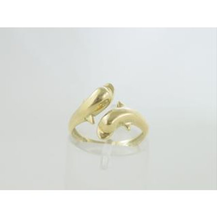 GOLD DOLPHINS RING 14CK YELLOW  Gold