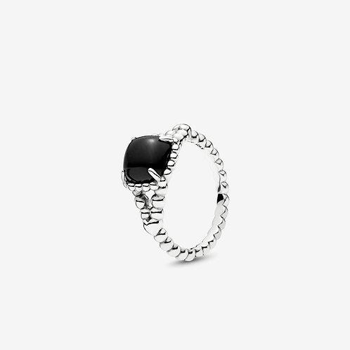 Pandora Ring with Onyx Stone