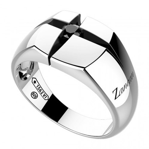 ZANCAN Silver Ring with Black Spinels  Collection Cosmopolitan