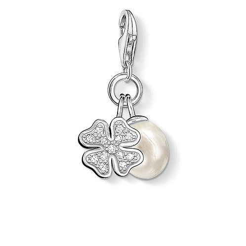 Thomas Sabo Charm Pendant Cloverleaf with Pearl