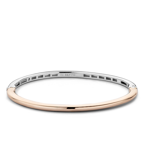 Ti Sento Bracelet crafted with Silver rose gold plated & colour Silver rose gold