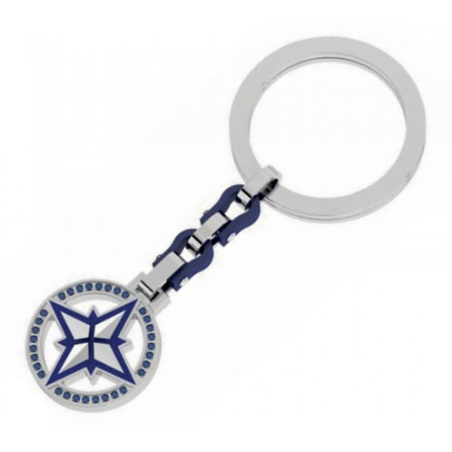 Rosso Amante  Stainless Steel Keychain