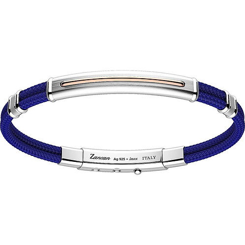 ZANCAN  BRACELET MEN'S SILVER AND KEVLAR