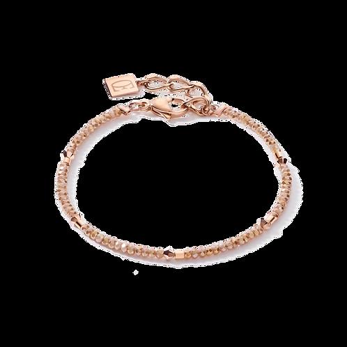 COEUR DE LION Bracelet ,Swarofski Crystals& delicate single row beige-rose gold