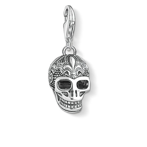Thomas Sabo Charm Pendant  Skull with lily
