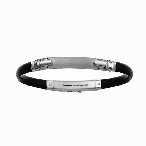 Bracelet Zancan Man ESB011B-N Rubber Silver