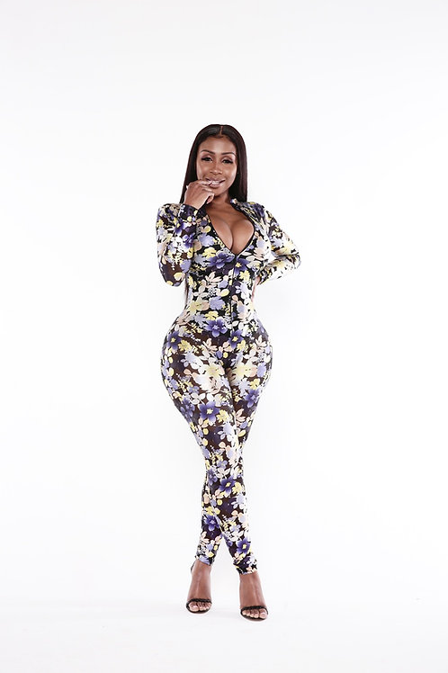 """CUSTOM """"GINA 2.0"""" FLORAL CATSUIT"""