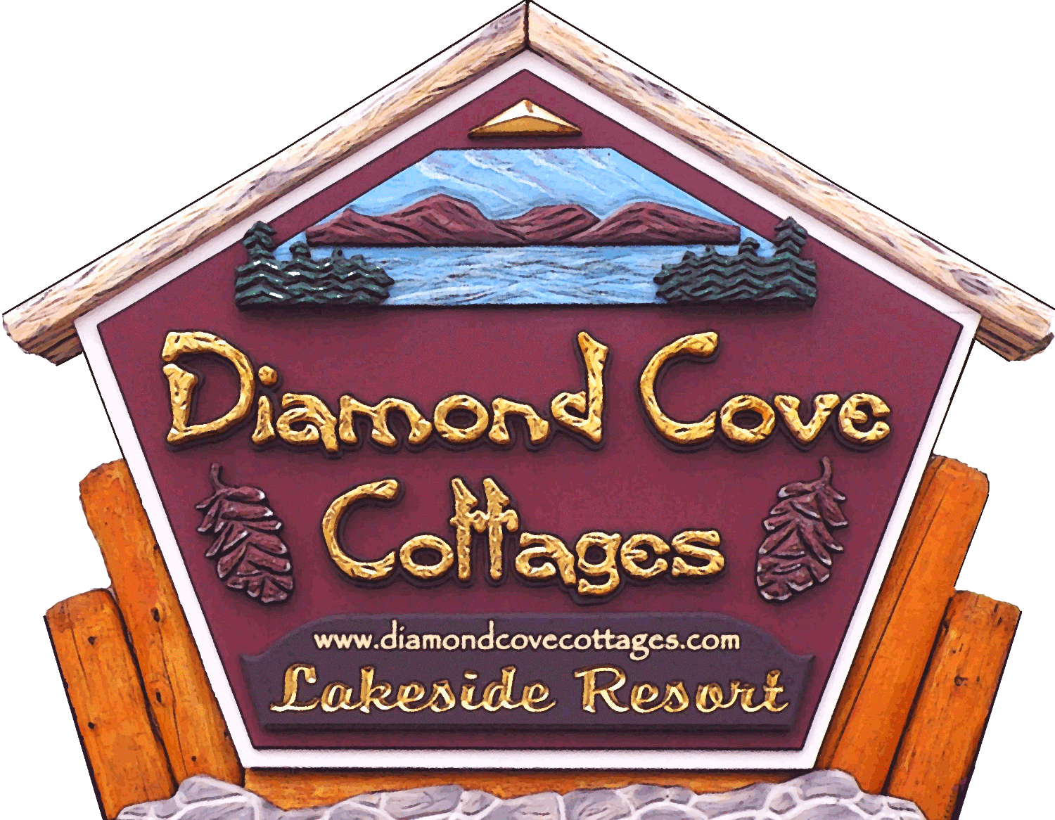 LAKE GEORGE DIAMOND COVE COTTAGES HOTEL RESORT IN LAKE