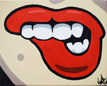 sexy red lips 2_painting_nathan_dukes.jp