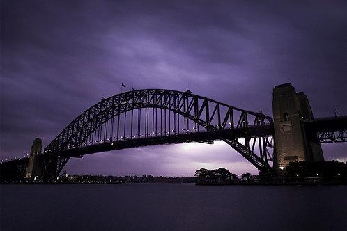 Harbour Bridge Purple Sunset