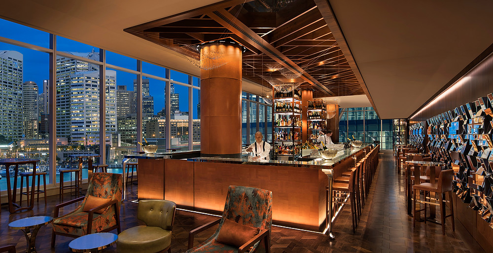 The sophisticated Champagne Bar. Picture: Sofitel Darling Harbour