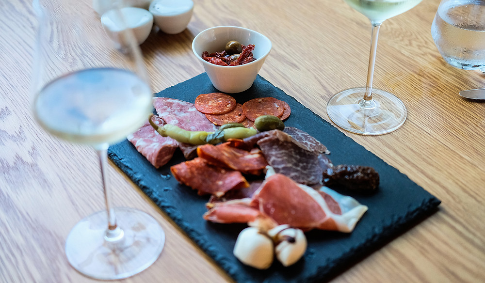 The Charcuterie Board at Atelier Restaurant. Picture: Nathan Dukes