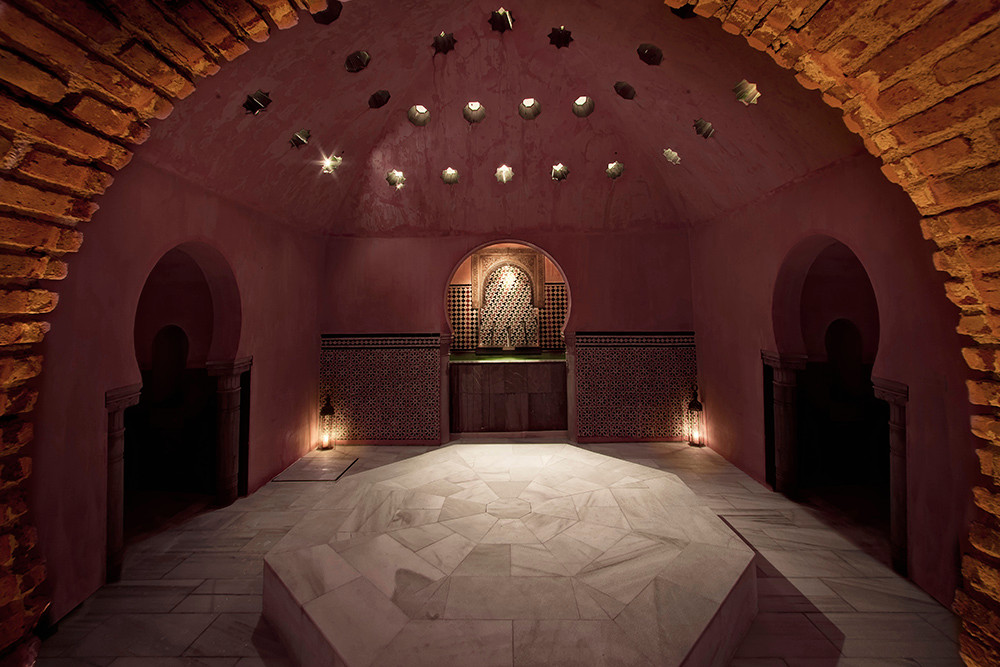 Stone bed and massage dayspa Hammam Al Andalus Granada Spain