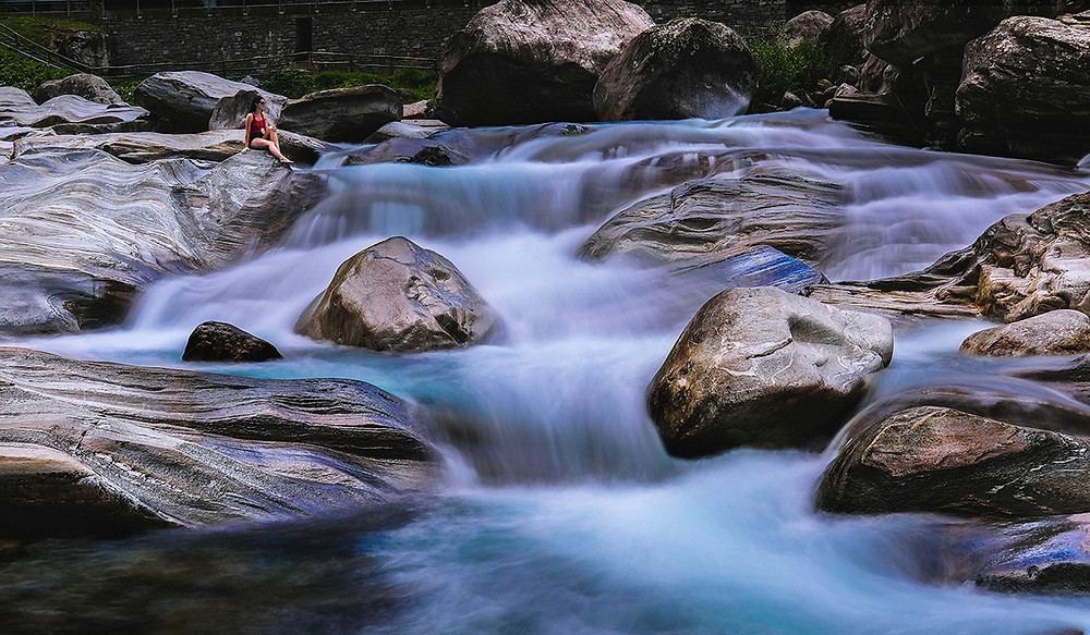 Icy rapids on the Valle Verzasca. Picture: Nathan Dukes
