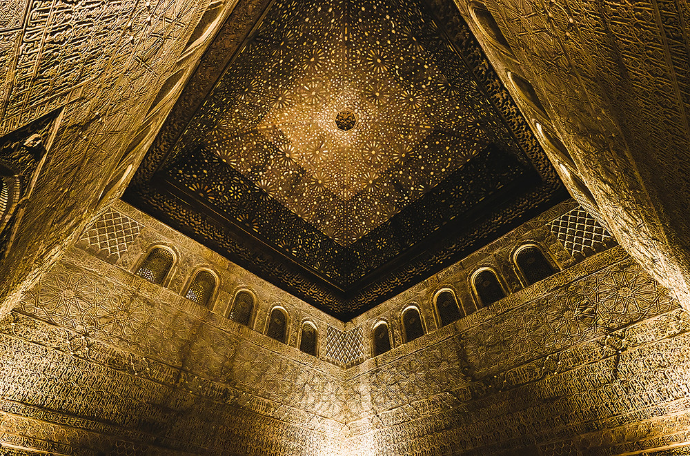 The incredible gold roof of the Salón de Embajadores. Picture: Nathan Dukes