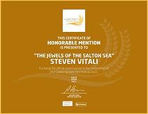 Golden Harvest Film Festival Dertificate