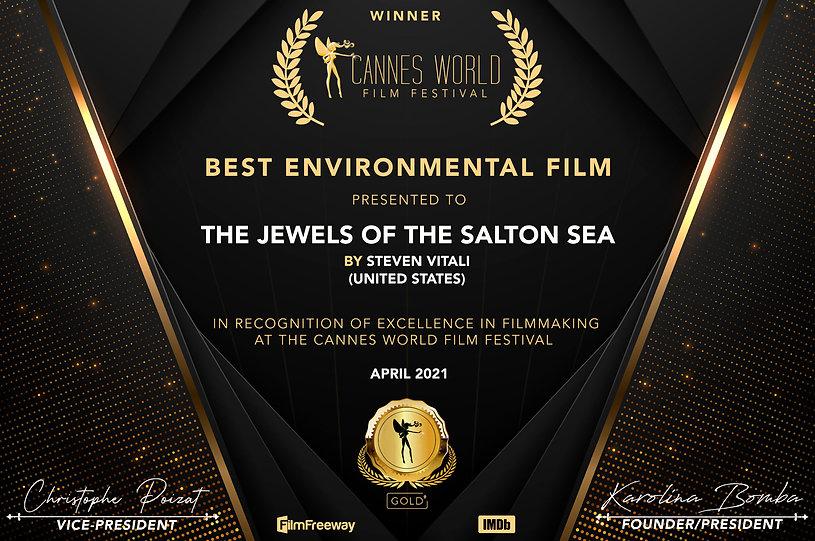 Certificate Best Environmental Film.jpg