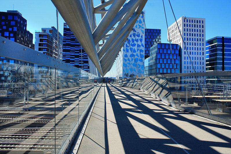 Akrobaten pedestrian bridge in Oslo, Nor