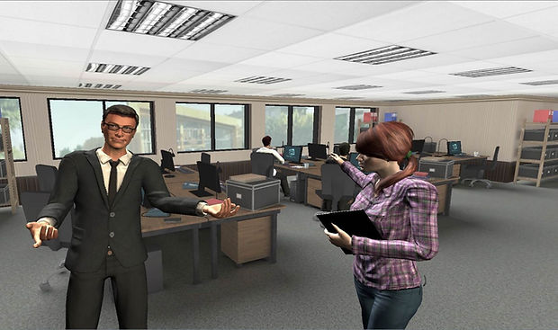 VR training environment-design VR interactions