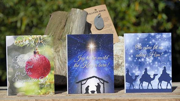 Prayer Rock Greeting Cards - Christmas