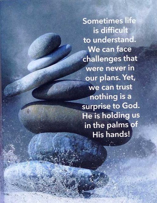 Challenges We Don't Understand - Prayer Rock Greeting Card