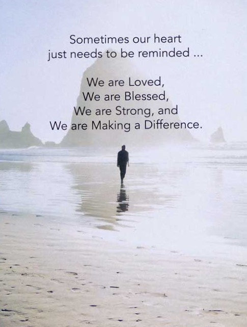 Making a Difference - Prayer Rock Greeting Card