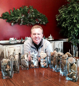 Stacey Williams with all his Joshua Jars