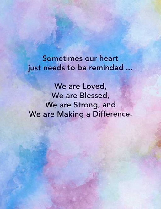 Making a Difference - MultiColor - Prayer Rock Greeting Card