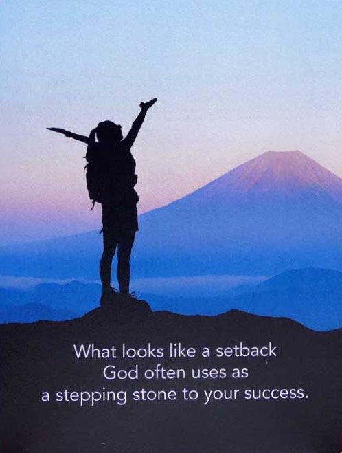 Stepping Stones - Prayer Rock Greeting Card