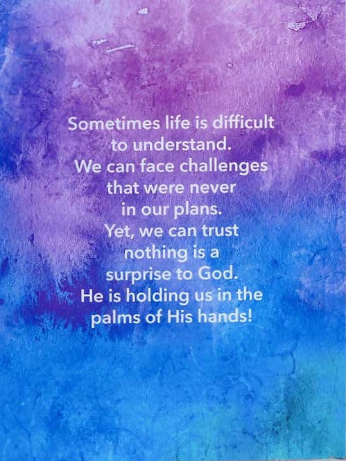Challenges - Prayer Rock Greeting Card