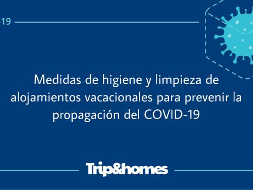 Medidas de higiene y limpieza de alojamientos vacacionales para prevenir la propagación del COVID-19