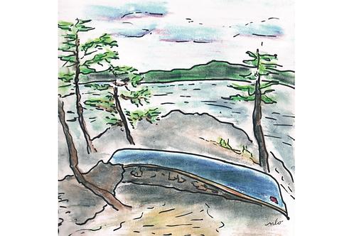 beloved canoe greeting card