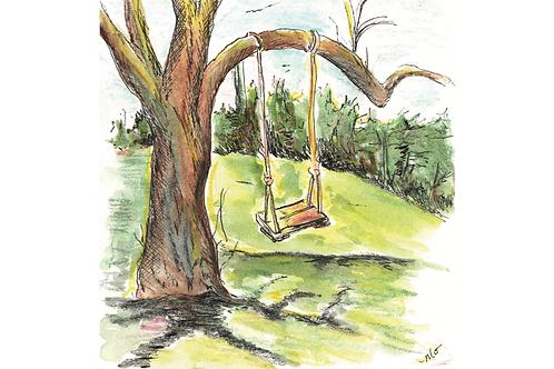 swing postcard