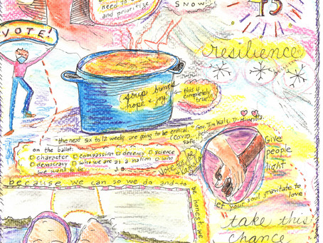 Blog 43: Soup brings joy.  Be resilient.  Vote.