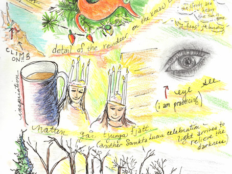 """Blog 34: Candles on their heads, singing before dawn. """"Eye"""" see."""