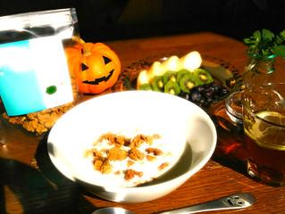 ハロウィンの朝食は