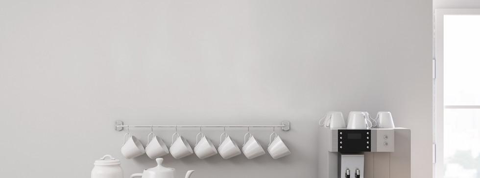 White Coffee Bar Wall