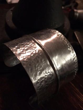 FOLD FORMING Metal Cuff Bracelets