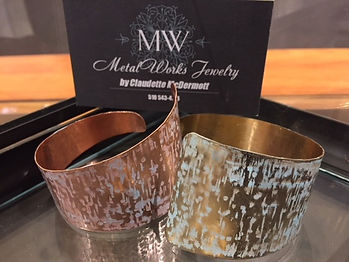 TAPERED PATINA CUFF Bracelets